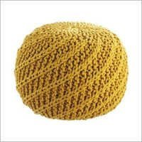 Yellow Stool Pouf