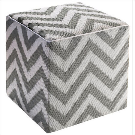 Knitted Cube Ottoman