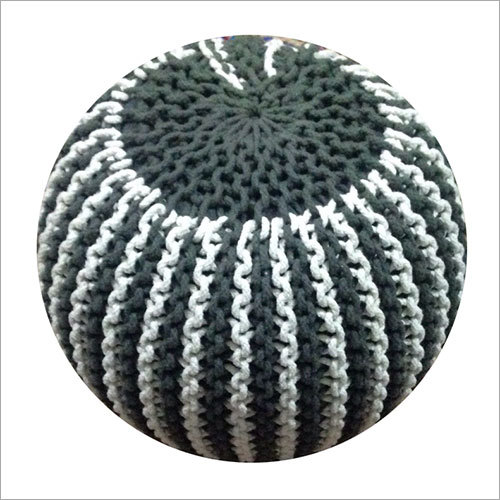 Decorative Knitted Poufs