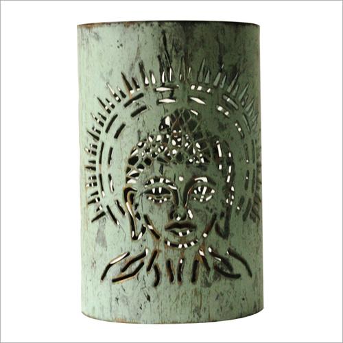 Buddha Votive Candle Holder Sage Green