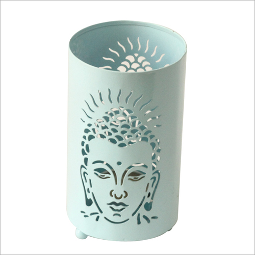 Buddha Votive Candle Holder Sky Blue