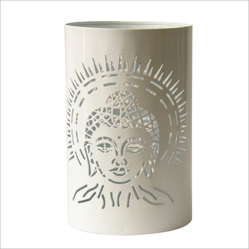 Buddha Votive Candle Holder White