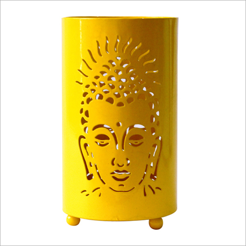 Buddha Votive Candle Holder Yellow