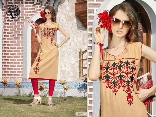 Sakhi Cotton Kurtis Catalog