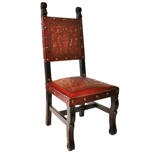 spanish heritage antique brown chair