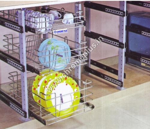 SS Kitchen Cabinet Pole System