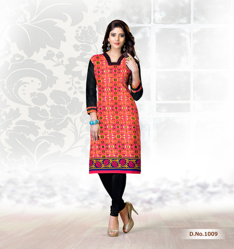 Trendy Cotton Printed Kurti Suppliers