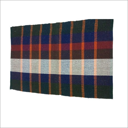 Paddle Check Handloom Cotton Rug
