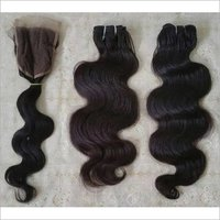 Body wave Human Hair with lace closure
