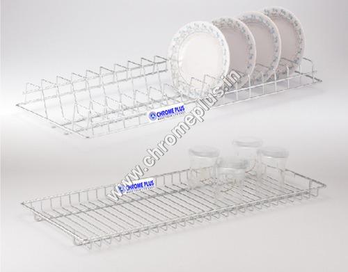 SS Glass Kitchen Tray