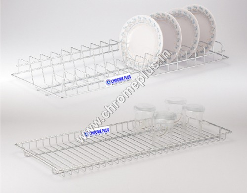 SS Glass Kitchen Tray