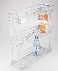 SS Bottle Kitchen Pullout 3 Shelve