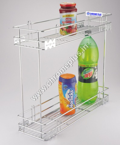 SS Kitchen Bottle pullout 2 Shelf