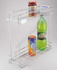 SS Kitchen  2 Shelf Bottle Pullout