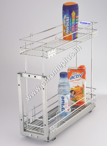 SS Kitchen Bottle With Wheel Pullout