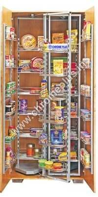 SS Modular Kitchen Pantry Pullout