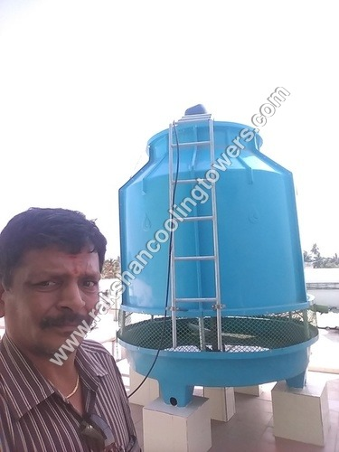 FRP Round Shape Flow Cooling Tower