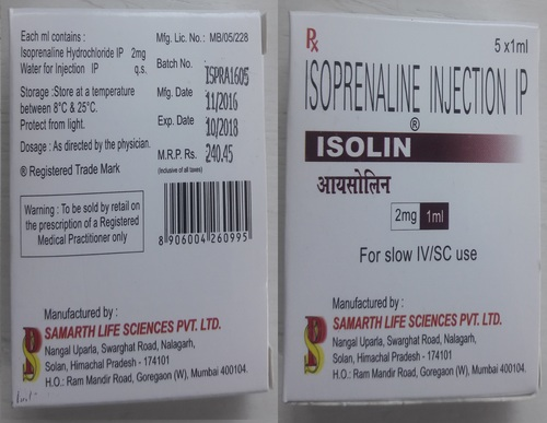 Isolin Isoprenaline Injection IP