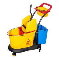 Plastic Down-press Double Mop Cleaning Trolley For Hotel
