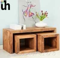 Wooden Coffee Table Set.