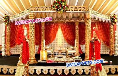 Golden Wedding Mandap