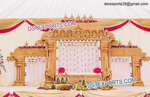 SriLankan Wedding Wooden Mandap