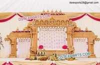 SriLankan Wedding Wooden Mandap