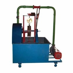 Pelton wheel turbine test rig capacity :1HP (A.C motor)