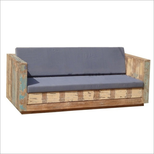 Sandy Rustic Rough Look Three Seater Sofa