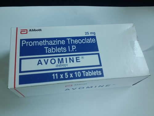 Avomine Promethazine Theoclate Tablets I.P.