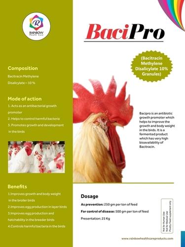 Bacitracin Methylene  Disalicylate (BMD) 10% or 15% Granules