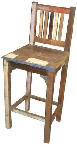 Reclaimed wood bar chair