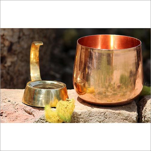 Copper Mug On Brass Base