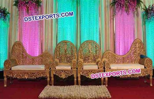 Royal Indian Wedding Carved Sofa Set