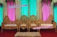Royal Indian Wedding Carved Sofa Set
