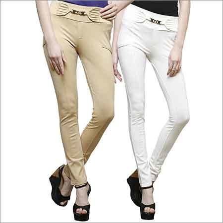 Ladies Plain Jeggings