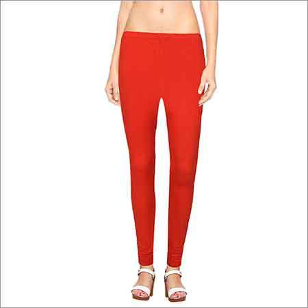 Ladies Red Leggings