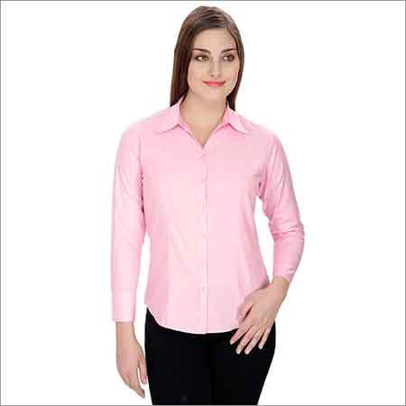 Ladies Pink Formal Shirt