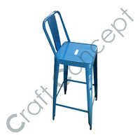 BLUE METAL BAR CHAIR