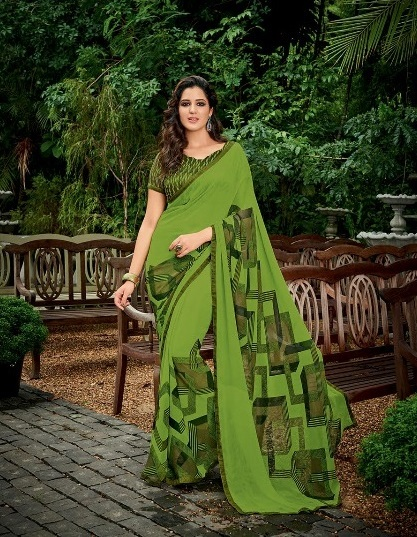 Sethnic Wholesale Pure Georgette printed saree catalog supplier