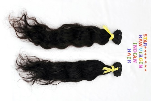 INDIAN VIRGIN WAVY HAIR WEFT