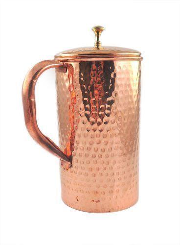 Copper Straight Hammered Jug