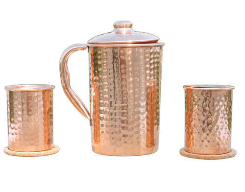 Copper Jug With Glass