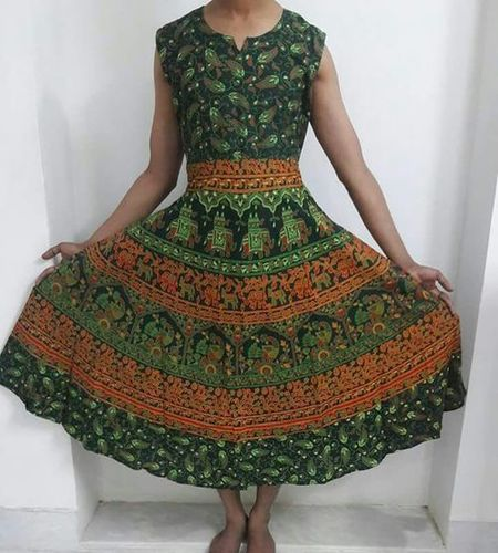 Jaipuri Printed Cotton Dress