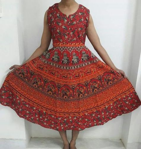 Rajasthani Printed Long Dress