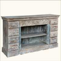 Indian Carving Frosted Sideboard