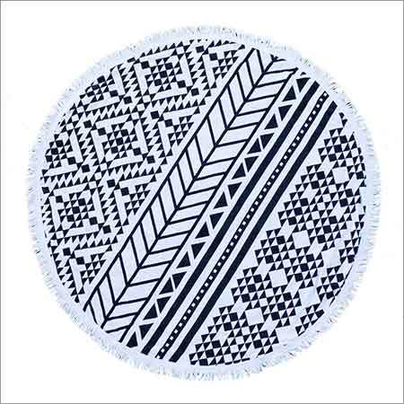 Round Beach Cotton Towel