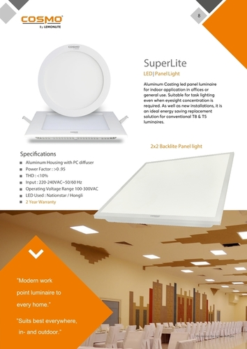 2x2 Square Slim Panel Light