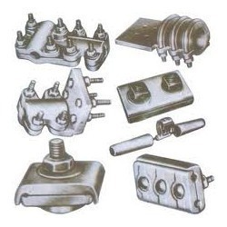 Aluminium sub station clamps and connectors