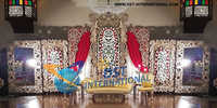 Muslim Wedding Design Panels Stage